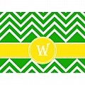 Alphabet Soup- Chevron -w- Folded Notecard