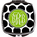 Black and White Polka Dots Compact Mirror