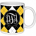 Black and Yellow Argyle Mug Coffee Mug