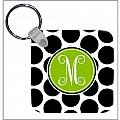 Black DOT Key Chain