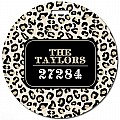 Black and Khaki Leopard Round Luggage Tag
