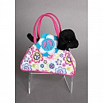 Peace Flower Tote With Black Lab