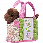 Sassy Pet Sak Pink Bird-tote with Chocolate Lab