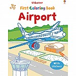 Airport Coloring Book with Stickers