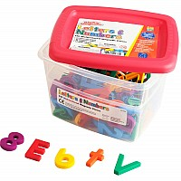 Multicolored Alpha And Mathmagnets (Set Of 126)