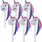Rainbow Prancers Puppet-On-A-Stick Twinkle - White Replenishment Set Of 6