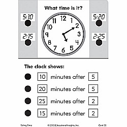 Telling Time (Hot Dots Flash Cards)