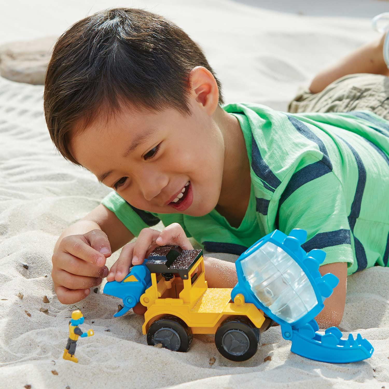 Dino Construction Company Play Sets- u0026quot;Helixu0026quot; Stegosaurus Cement Mixer - Adventure Toys
