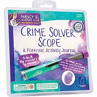 Nancy B's Science Club Crime Solver Scope & Forensics Activity Journal