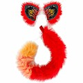 Cat EarsTail Red Flame