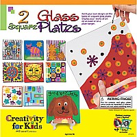 2 Square Glass Plates