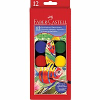 12 CT Watercolor Paint Set (cakes) With Brush