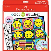 Faber-Castell Color by Number Emoji Pop-Art