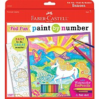 Paint By Number Unicorn Foil Fun