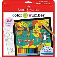 Color By Number Forest Friends