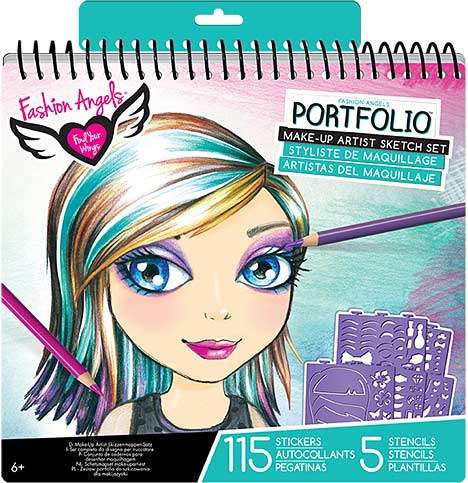 Fashion Angels Make Up Design Sketch Portfolio Toy Sense