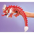Dragon, Red, Small Hand Puppet