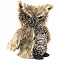 Screech Owl Turning-Head Puppet