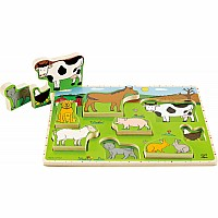 Hape Farm Animals Stand-up Puzzle