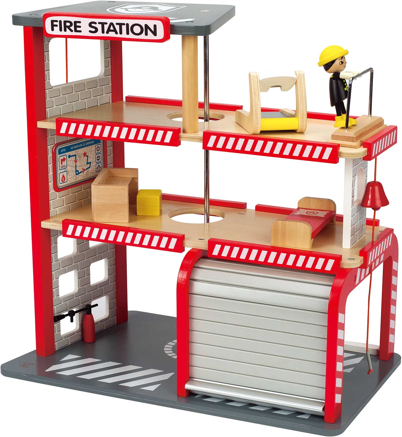 fire station   the wooden toy