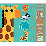 In the Jungle 4 Puzzles 3,4,5,6pcs