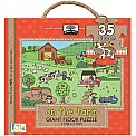 Green Start Giant Floor Puzzles: on the farm