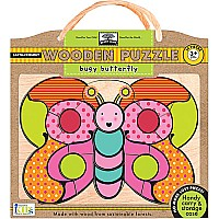 Innovative Kids Green Start Wooden Puzzle Busy Butterfly