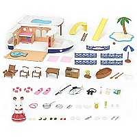 Calico Critters Seaside Cruiser Houseboat Toy
