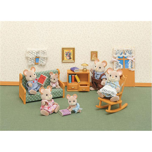 calico critters-living room set - amazing toys