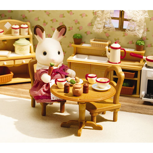 Calico Critters Deluxe Kitchen Set - Monkey Fish Toys