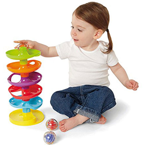 Earlyears Whirl N Go Ball Tower First Ball Ramp For Ages 9 Months