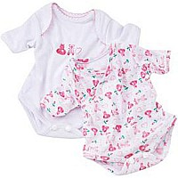 "Set of 2 Onesies 16.5""-18"""