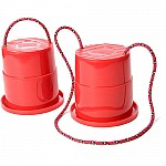 Stepper red - rope and cup stilt toy