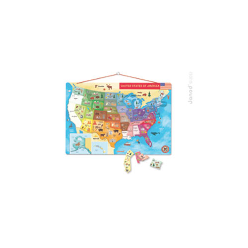 Magic Us Map Puzzle Janod: Janod Magnetic Usa Map At Infoasik.co