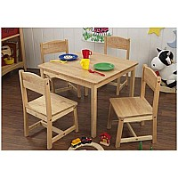 Farmhouse Table and 4 Chair Set