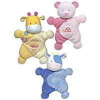 Comfort Cuddly Rattle Toy Pink - Blue - Yellow