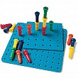 Tall-Stacker Pegs and Pegboard Set