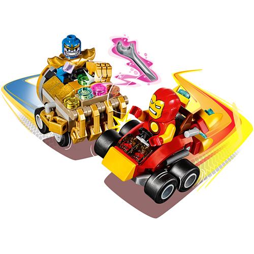 Mighty micros iron man vs thanos monkey fish toys for Monkey fish toys