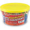 Friendly Farm Animal Counters, Set of 72