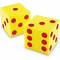 Giant Soft Dot Cubes, Set of 2