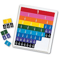 Rainbow Fraction Plastic Tiles with Tray