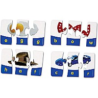 3-Letter Words Puzzle Cards photographic