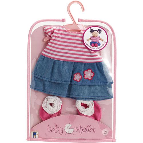 Baby Stella Splendid Stripes & Denim Dress Gepettos Workshop