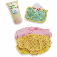 Wee Baby Stella Diaper Changing Set (2 Diapers, Wipes & Cream)