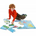 World Map Floor Puzzle (33 pc)