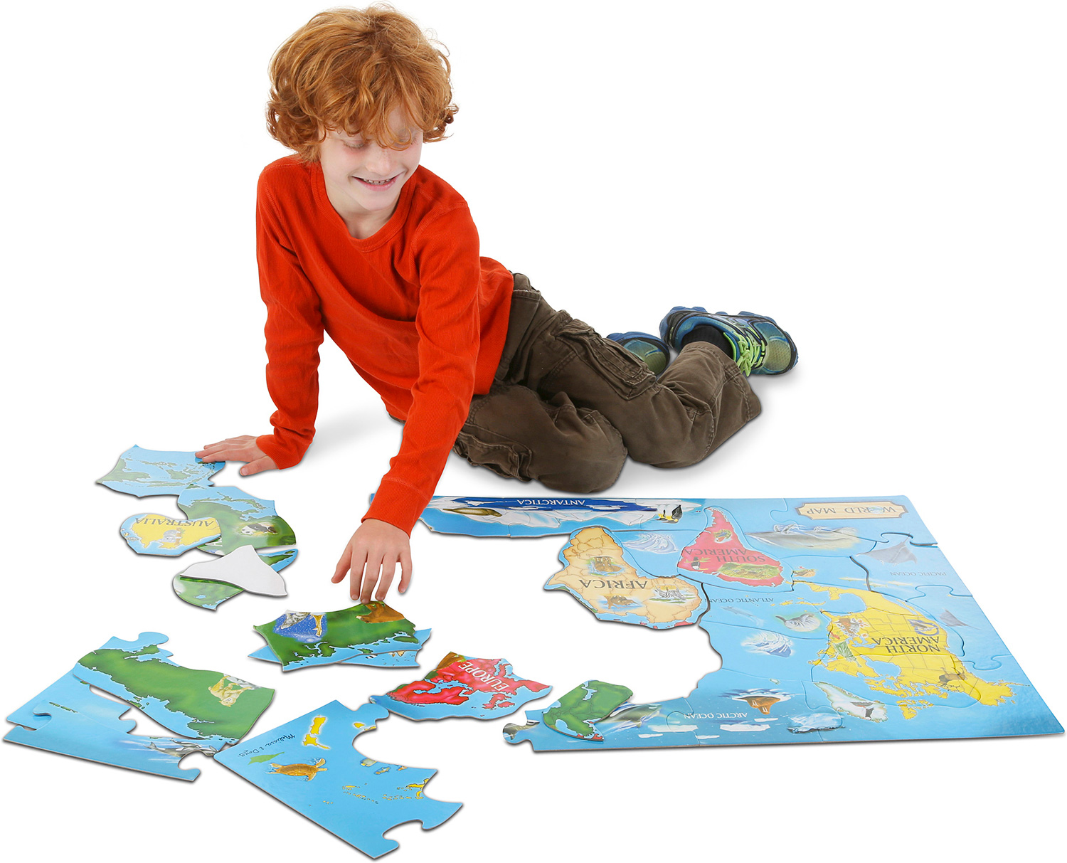 World Map Floor Puzzle 33 Pc West Side Kids