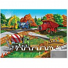 0030 PC Construction Site Cardboard Jigsaw
