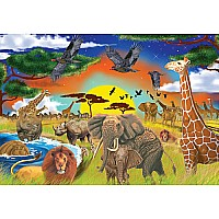 0200 pc Safari Adventure Cardboard Jigsaw