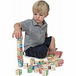 Wooden Abc/ 123 Blocks
