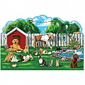 Pet Party Shaped Floor Puzzle (32 pieces)
